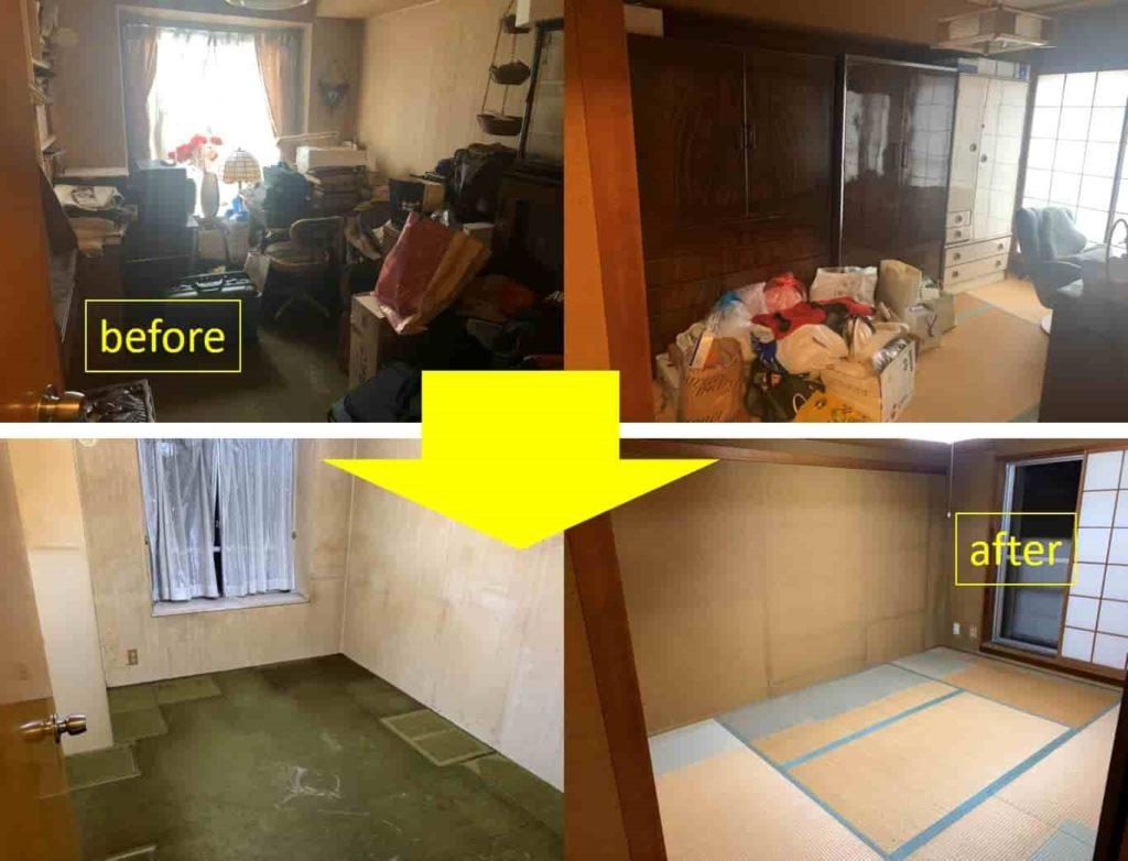 【中川区 I様】 遺品整理を含む空き家のお片付けと自宅の不用品回収